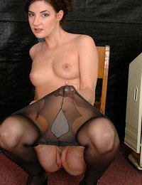 Pantyhose striptease
