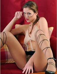Dancing lady in pantyhose