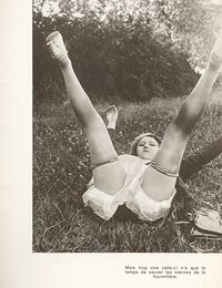 Once again passionate gals in vintage lingerie begin posing in various places very willingly