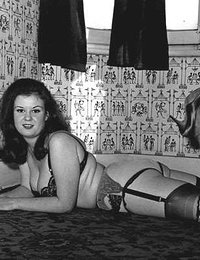 Playful gals wear vintage lingerie and don�t want to wait any longer to begin posing on camera