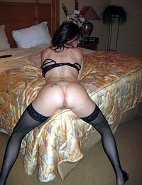 hot tall gilf stockings and heels in bed