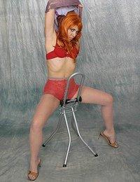 Sexy and kinky redhead