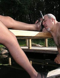 Hot nyloned mistress